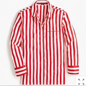NWTs VINTAGE PAJAMA TOP IN CANDY STRIPE SIZE M!!!